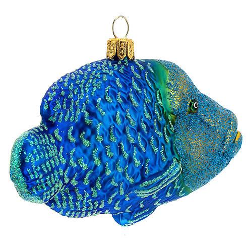 Décoration pour sapin de Noël verre soufflé poisson napoléon 6