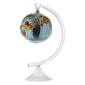 Piedistallo vetro per addobbi e palline Albero Natale s2