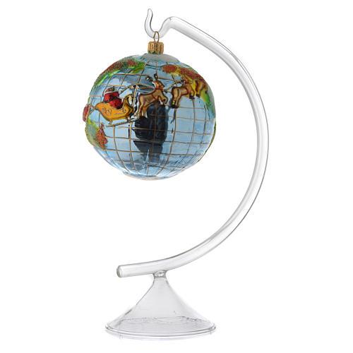 Pedestal vidro para adornos e bolas de Natal 2