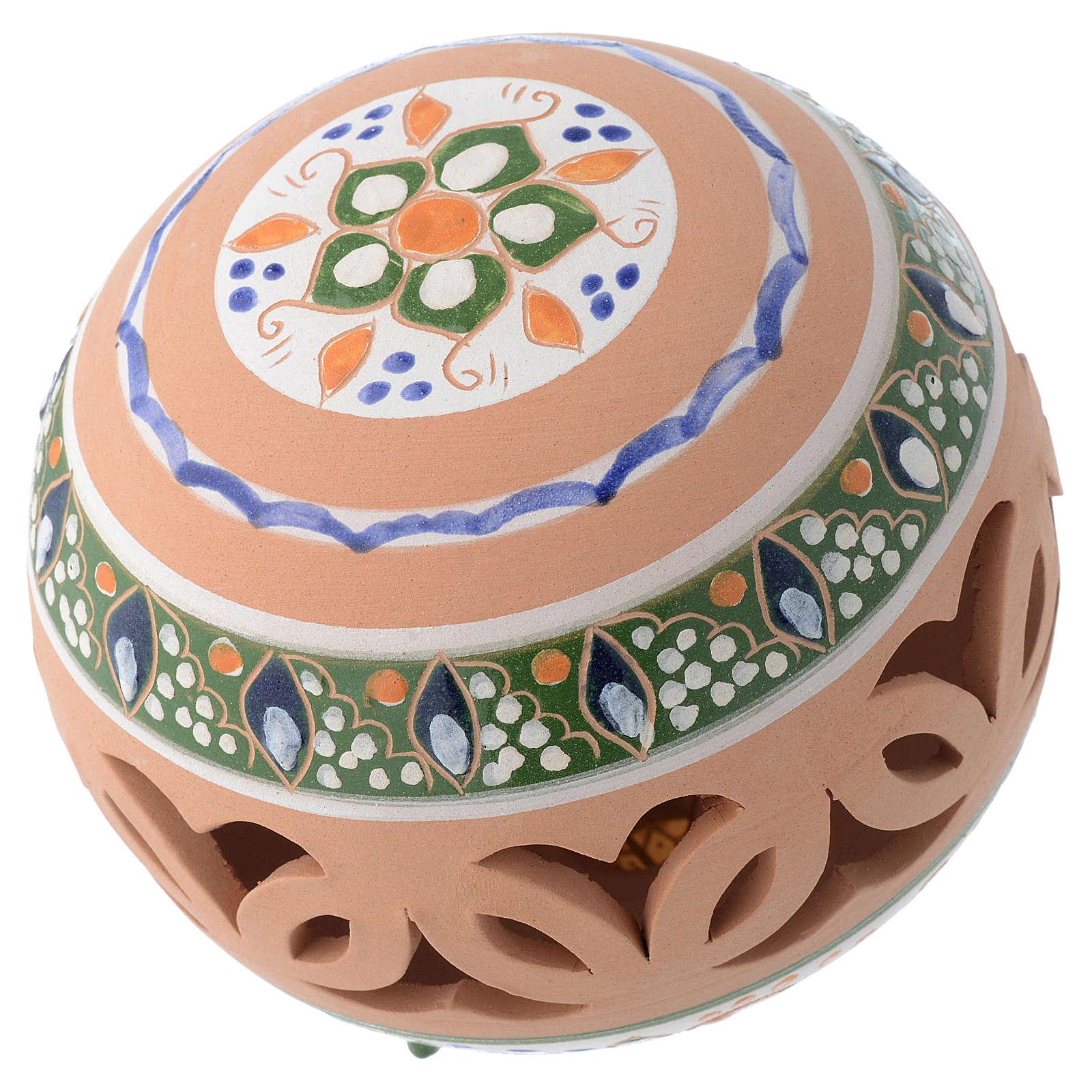 Palla tonda traforata country terracotta Deruta 100 mm 4