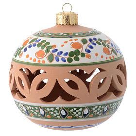 Palla tonda traforata country terracotta Deruta 100 mm s1
