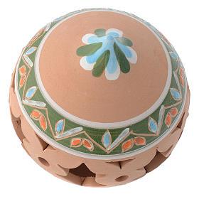 Bola perforada con punta estilo country terracota 80 mm s2