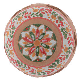 Drilled country terracotta Christmas bauble Deruta 80 mm s2