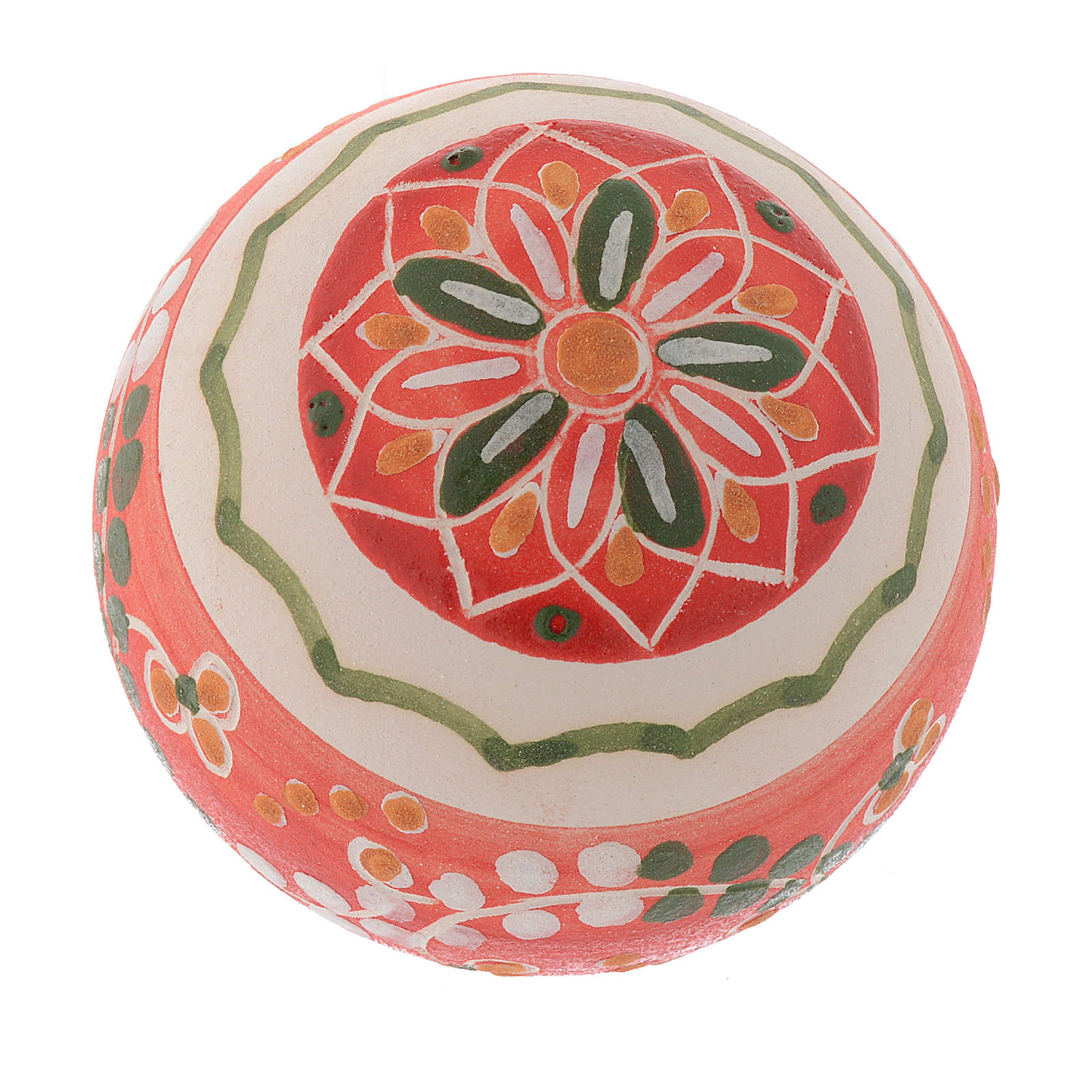 Bola de navidad estilo country terracota Deruta 60 mm 4