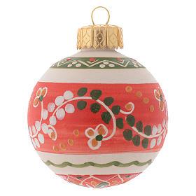 Bola de navidad estilo country terracota Deruta 60 mm s1