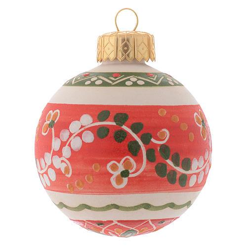 Bola de navidad estilo country terracota Deruta 60 mm 1