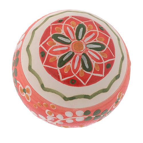 Bola de navidad estilo country terracota Deruta 60 mm 2