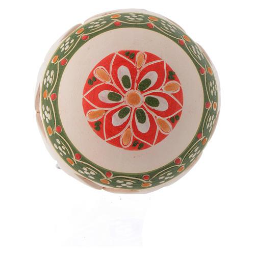 White ball in terracotta 80 mm 2