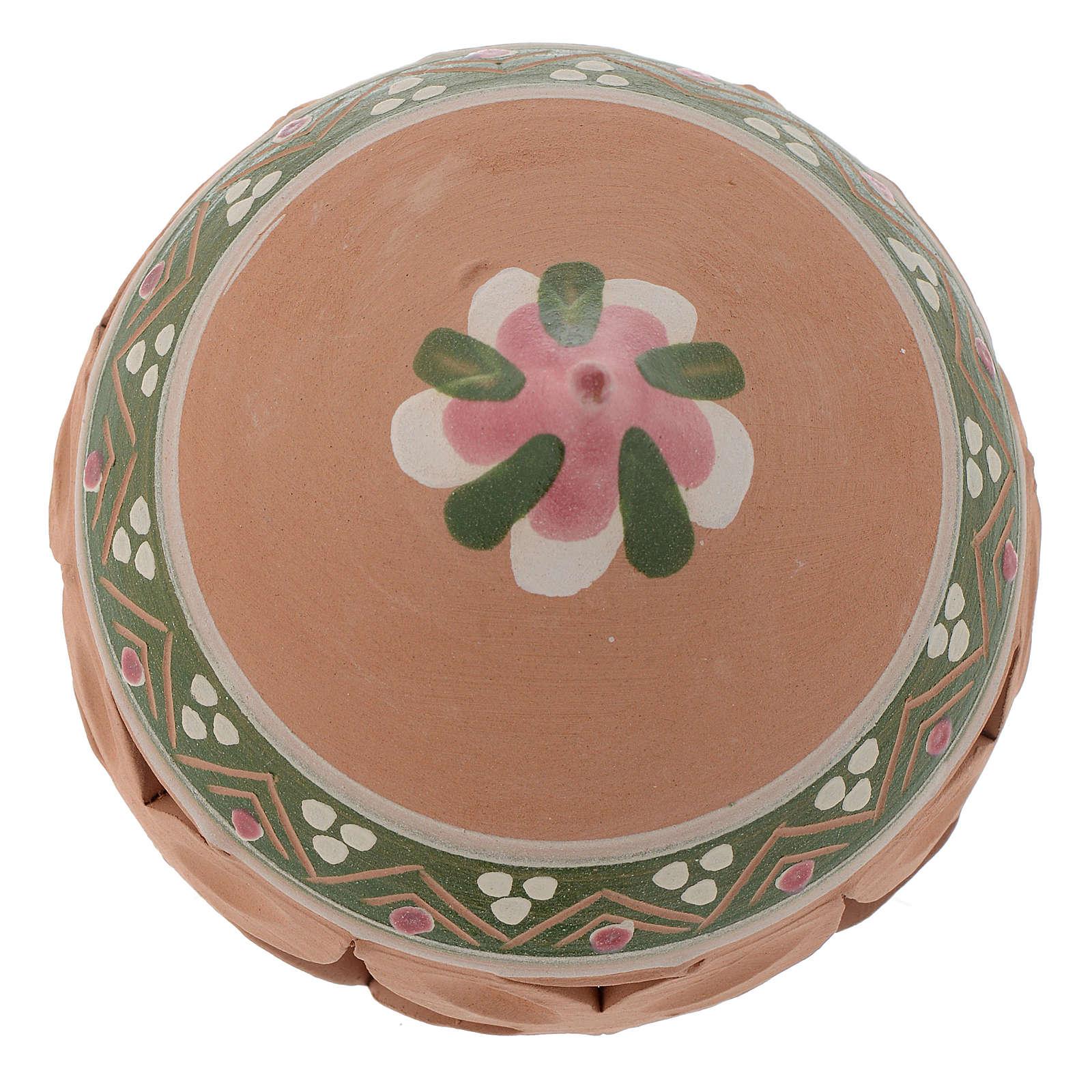 Bola con punta de Navidad 80 mm rosa 4