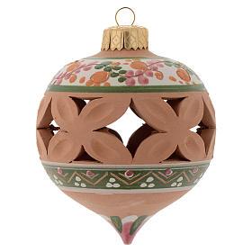 Bola con punta de Navidad 80 mm rosa s1