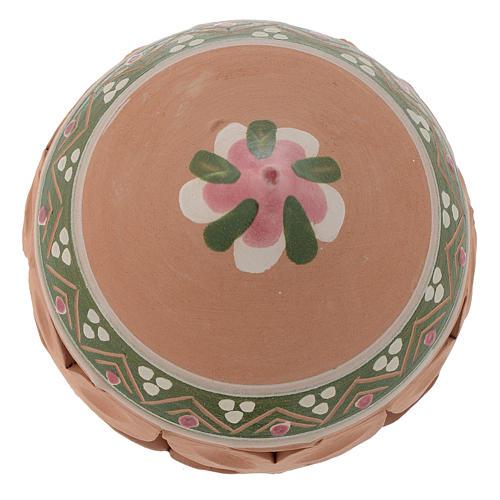 Bola con punta de Navidad 80 mm rosa 2