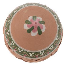 Palla a punta di Natale 80 mm rosa s2