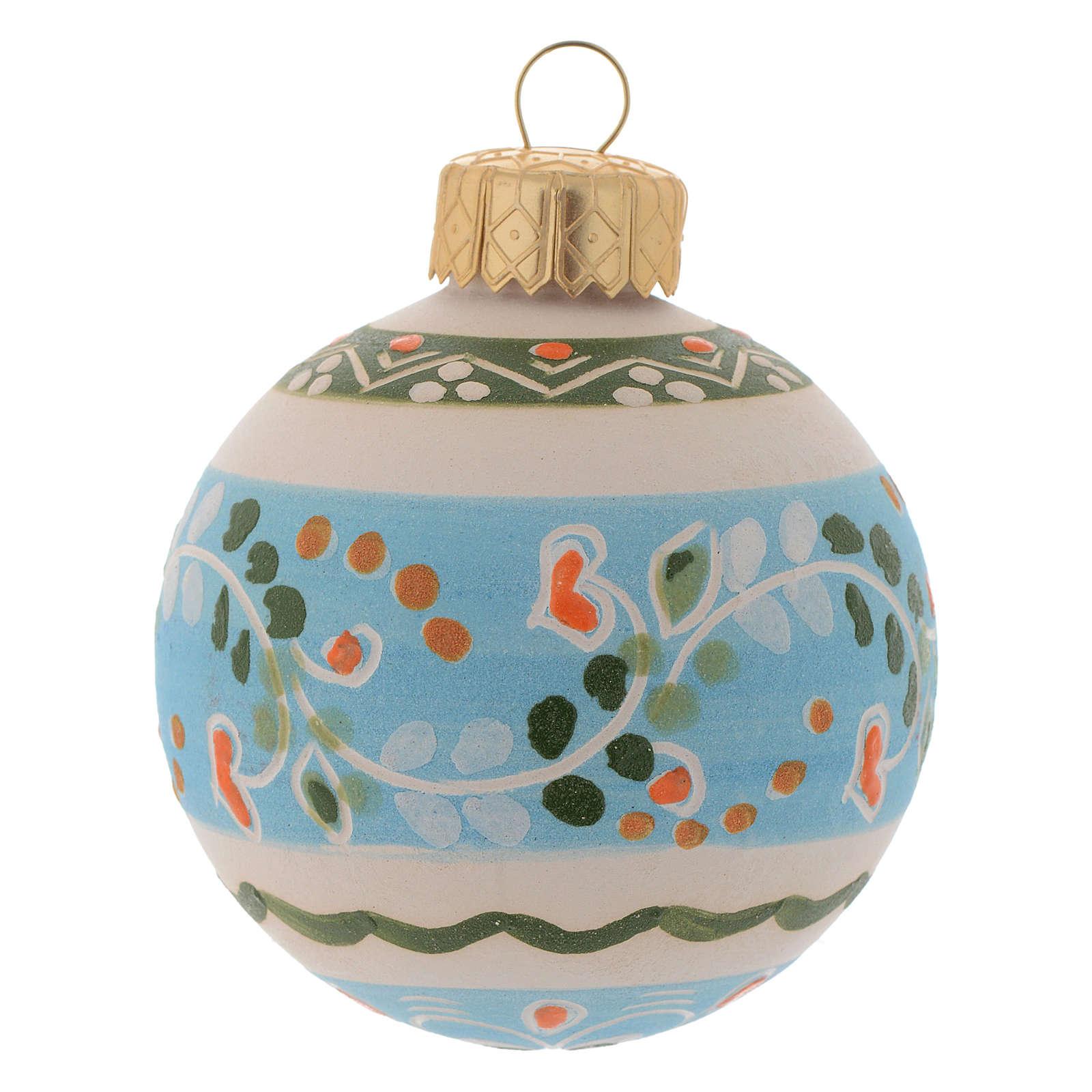 Bola decoración Árbol Navidad de terracota 60 mm 4