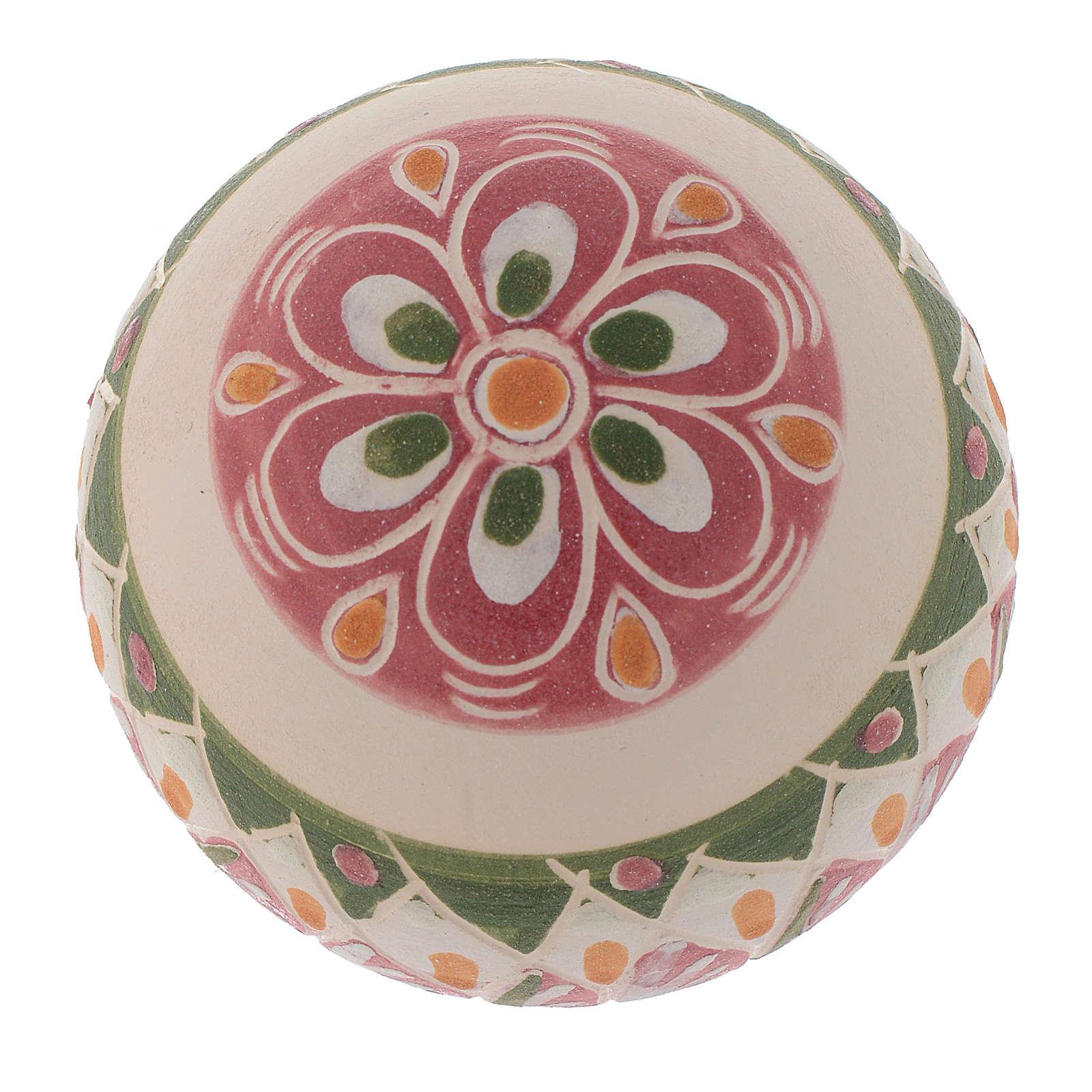 boule de no l en terre cuite 60 mm vieux rose vente en ligne sur holyart. Black Bedroom Furniture Sets. Home Design Ideas