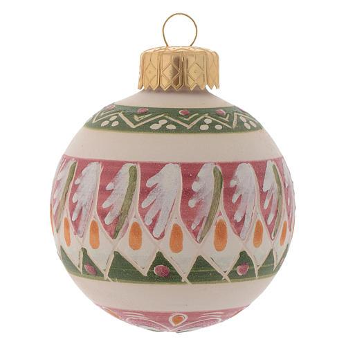 Palla di Natale in terracotta 60 mm rosa antico 1