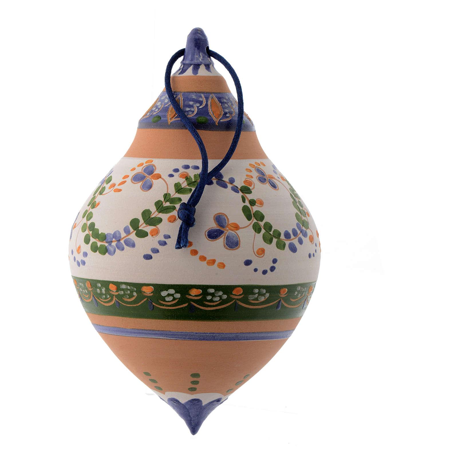 Bola con dos puntas de terracota 150 mm azul 4