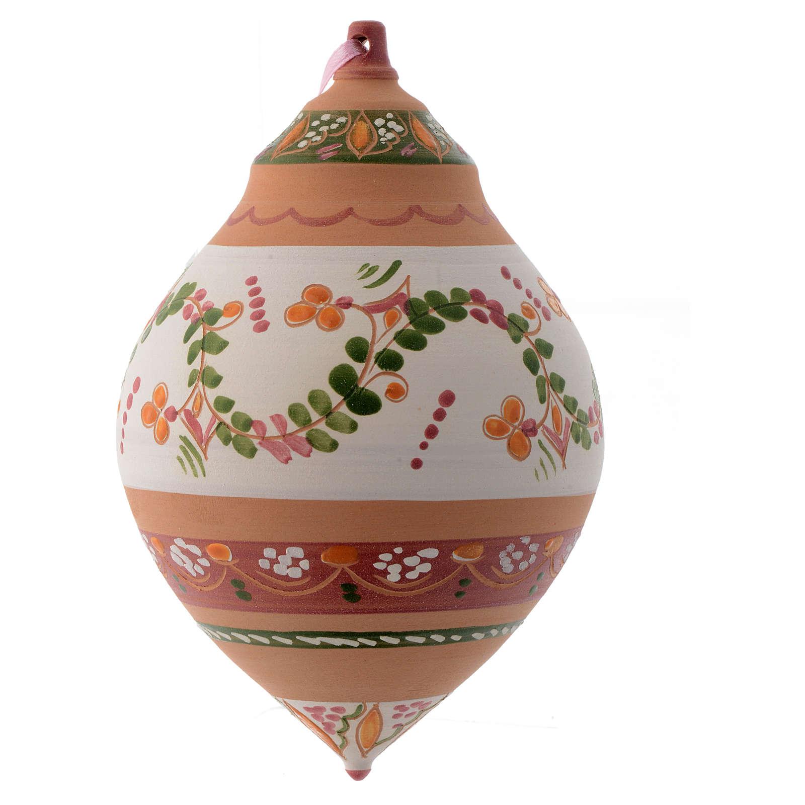 Palla con due punte in terracotta Deruta 150 mm 4