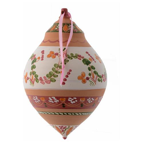 Palla con due punte in terracotta Deruta 150 mm 2