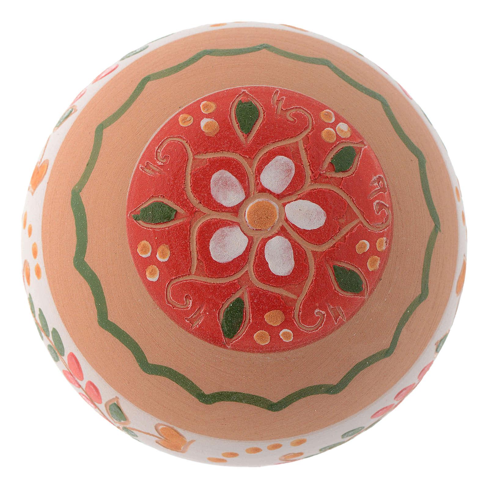 Pallina tonda in terracotta 80 mm rosso 4