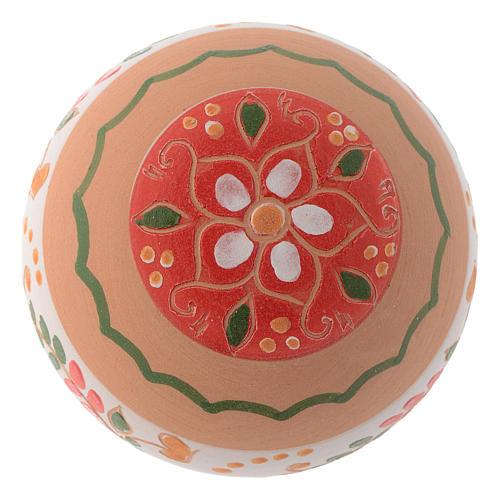 Pallina tonda in terracotta 80 mm rosso 2