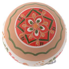 Palla di Natale in terracotta Deruta 80 mm s2