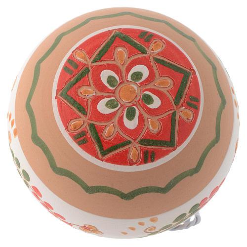 Palla di Natale in terracotta Deruta 80 mm 2
