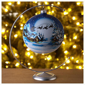 Bola vidro trenó de Pai Natal 150 mm s2
