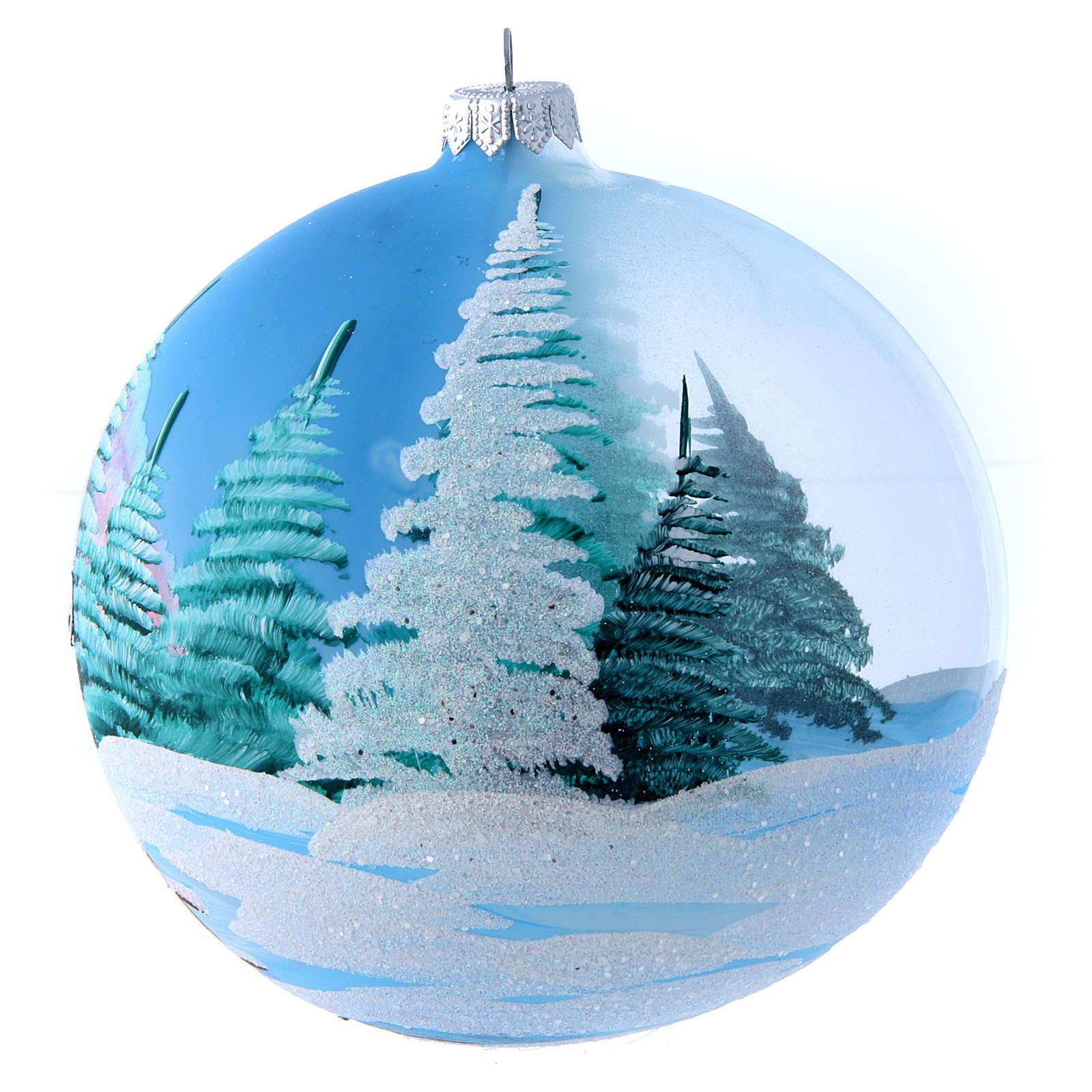 Bola de vidrio transparente decoración pintada y decoupage 150 mm 4