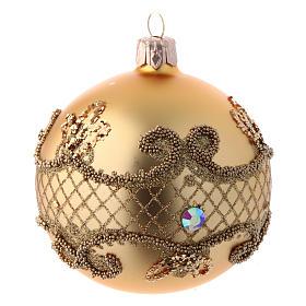 Bolas para Árbol de Navidad 80 mm caja 9 piezas surtidas vidrio soplado oro s2
