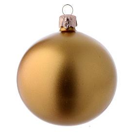 Bolas para Árbol de Navidad 80 mm caja 9 piezas surtidas vidrio soplado oro s3