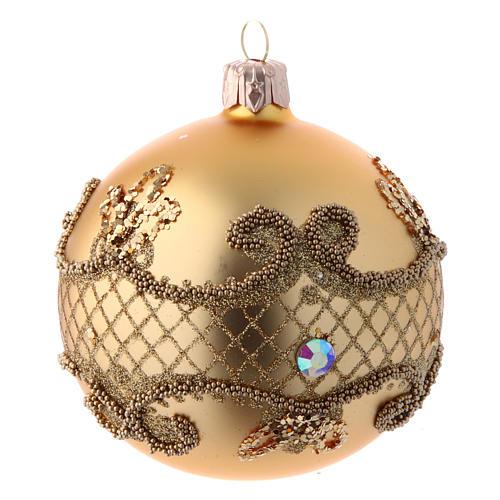 Bolas para Árbol de Navidad 80 mm caja 9 piezas surtidas vidrio soplado oro 2