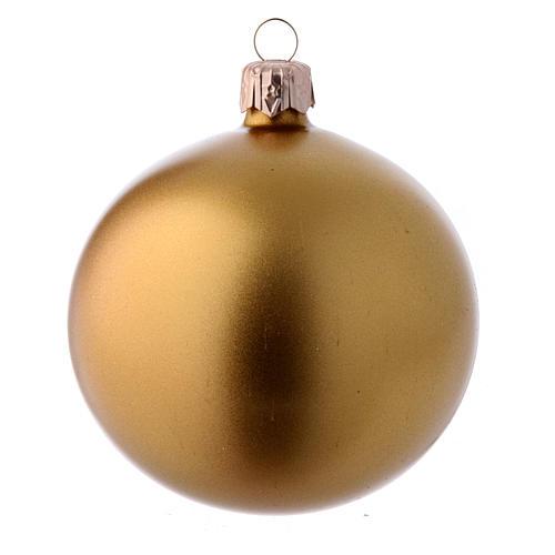 Bolas para Árbol de Navidad 80 mm caja 9 piezas surtidas vidrio soplado oro 3