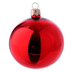 Bolas para Árbol de Navidad vidrio rojo 80 mm caja 9 piezas surtidas s2