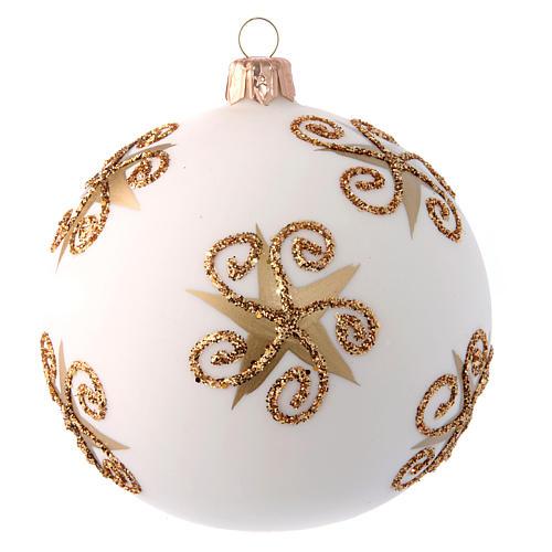 Glass Christmas ball with Father Christmas illustration 100 mm 2