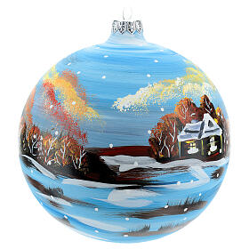Christmas bauble winter environment 150 mm s4