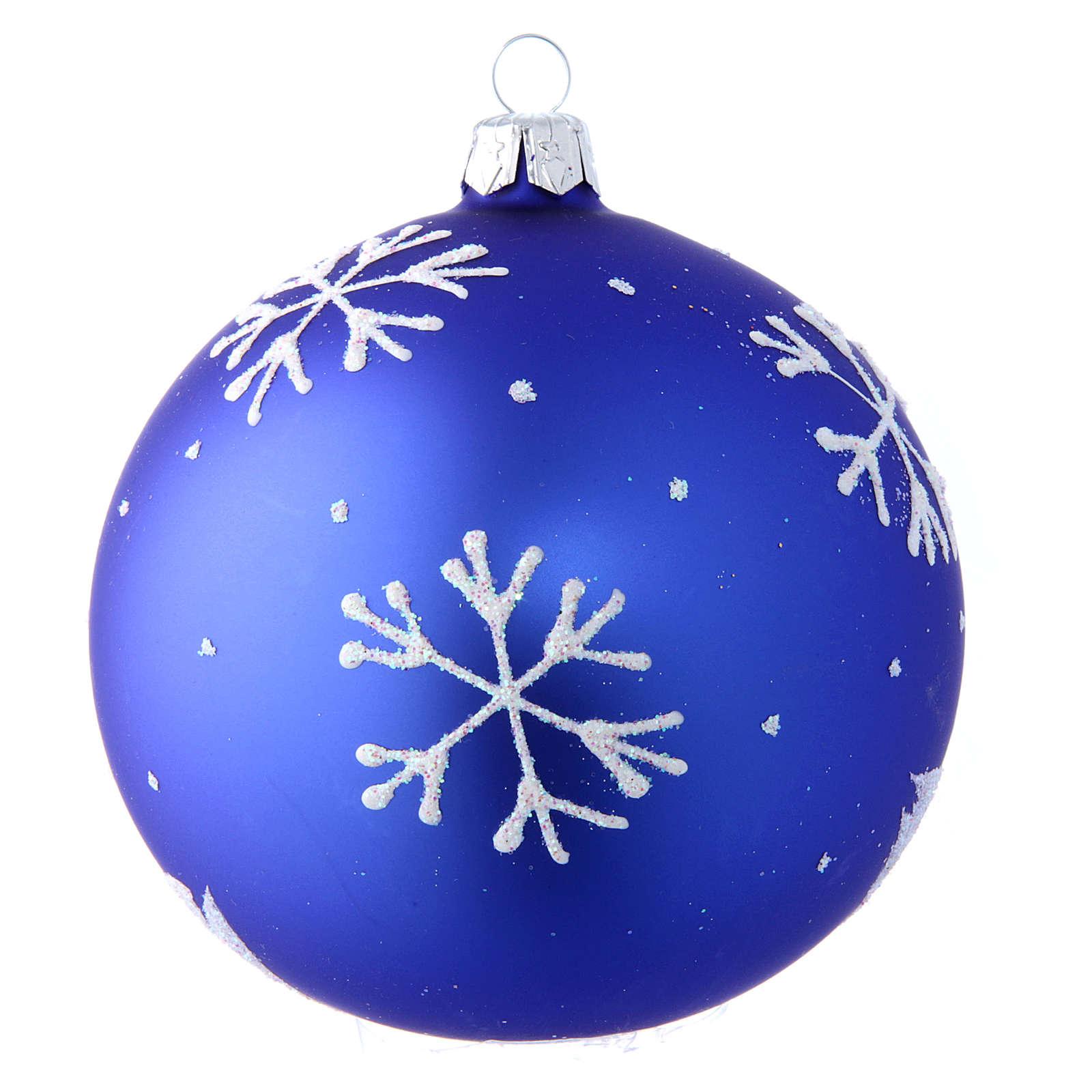 Pallina vetro soffiato con pupazzo di neve 100 mm 4