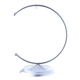 Christmas bauble hook in silver metal 100 mm s1