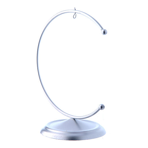 Christmas bauble hook in silver metal 100 mm 2