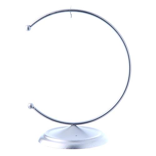 Soporte de metal plateado para bola de Navidad 100 mm 1
