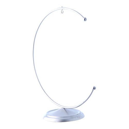Christmas bauble hook in silver metal 150 mm 2