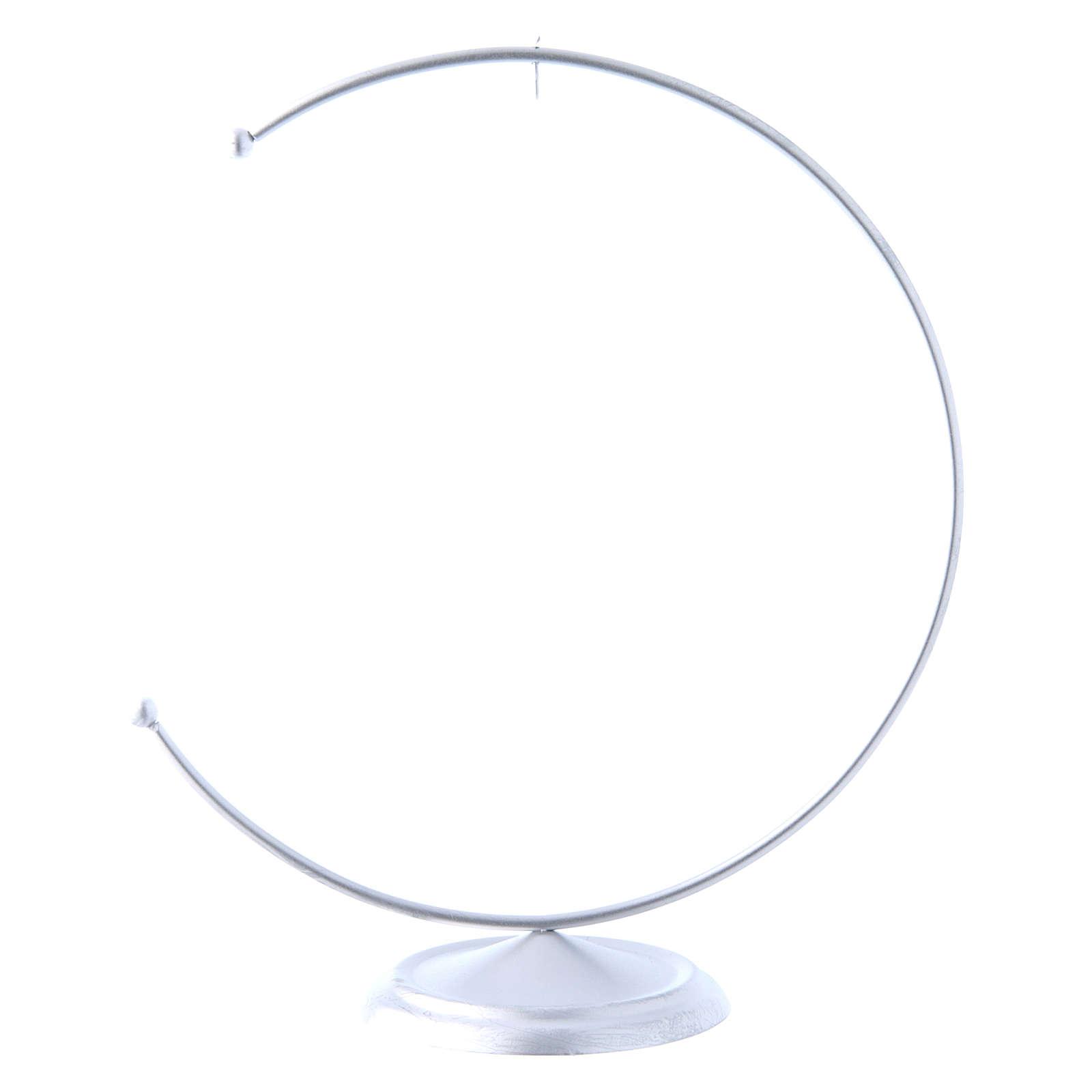 Christmas bauble hook in silver metal 150 mm 4
