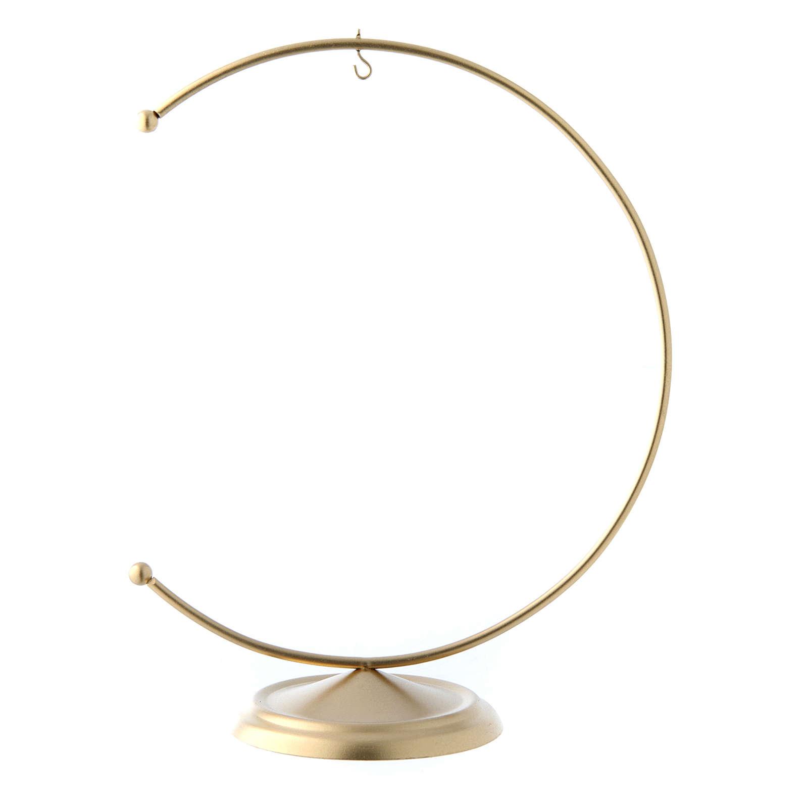 Soporte de metal dorado para bola de Navidad 150 mm 4