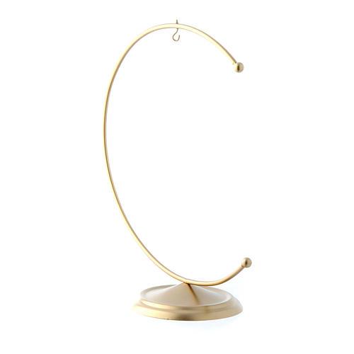 Soporte de metal dorado para bola de Navidad 150 mm 2
