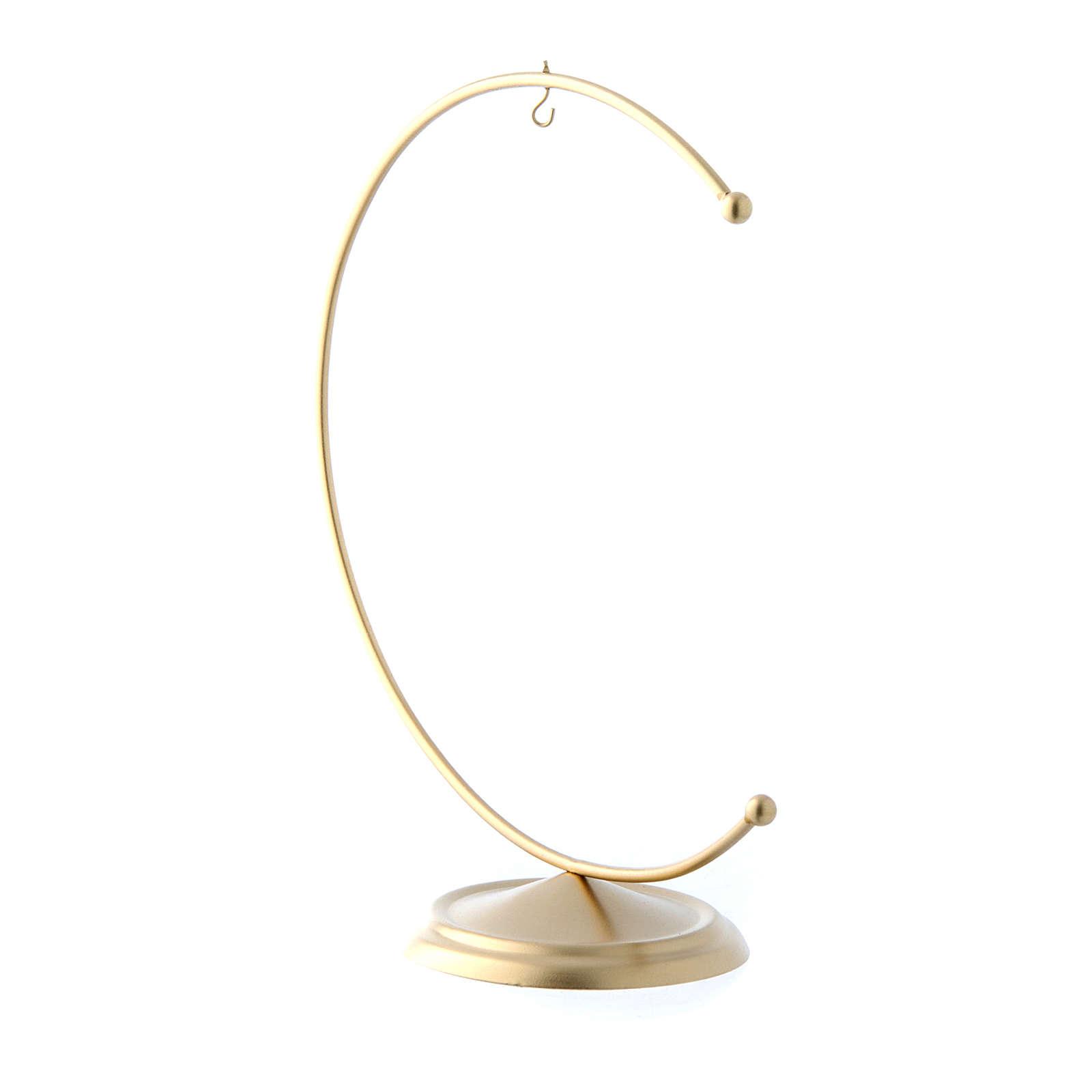 Gancio in metallo gold per pallina 150 mm 4