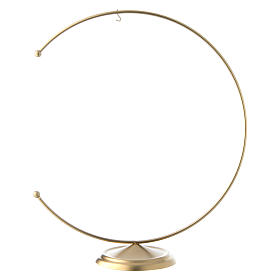 Christmas bauble hook in gold metal 200 mm s1