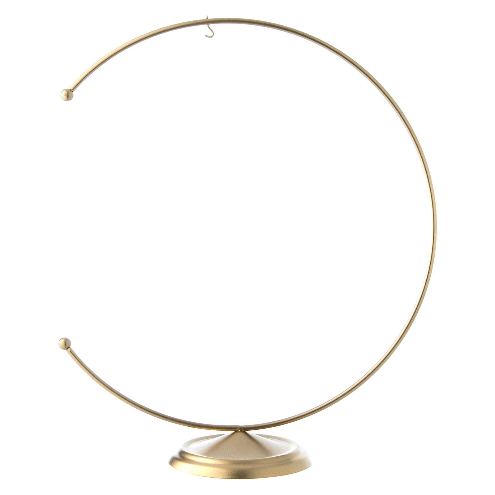Support en métal doré pour boule 200 mm 4