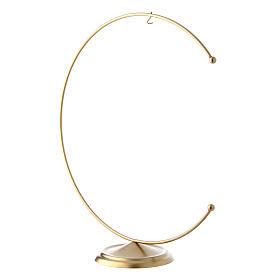 Support en métal doré pour boule 200 mm s2