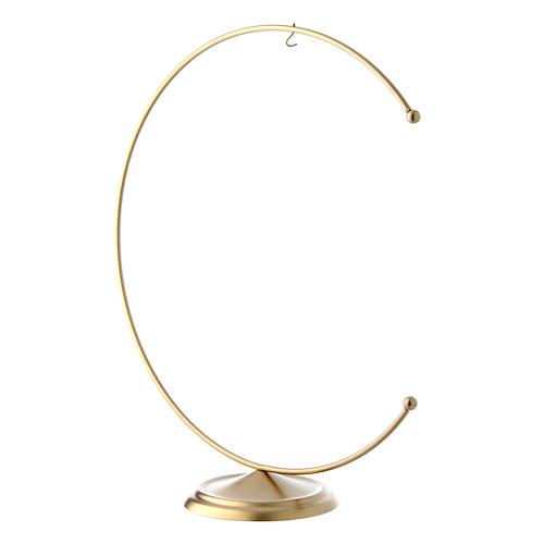 Support en métal doré pour boule 200 mm 2