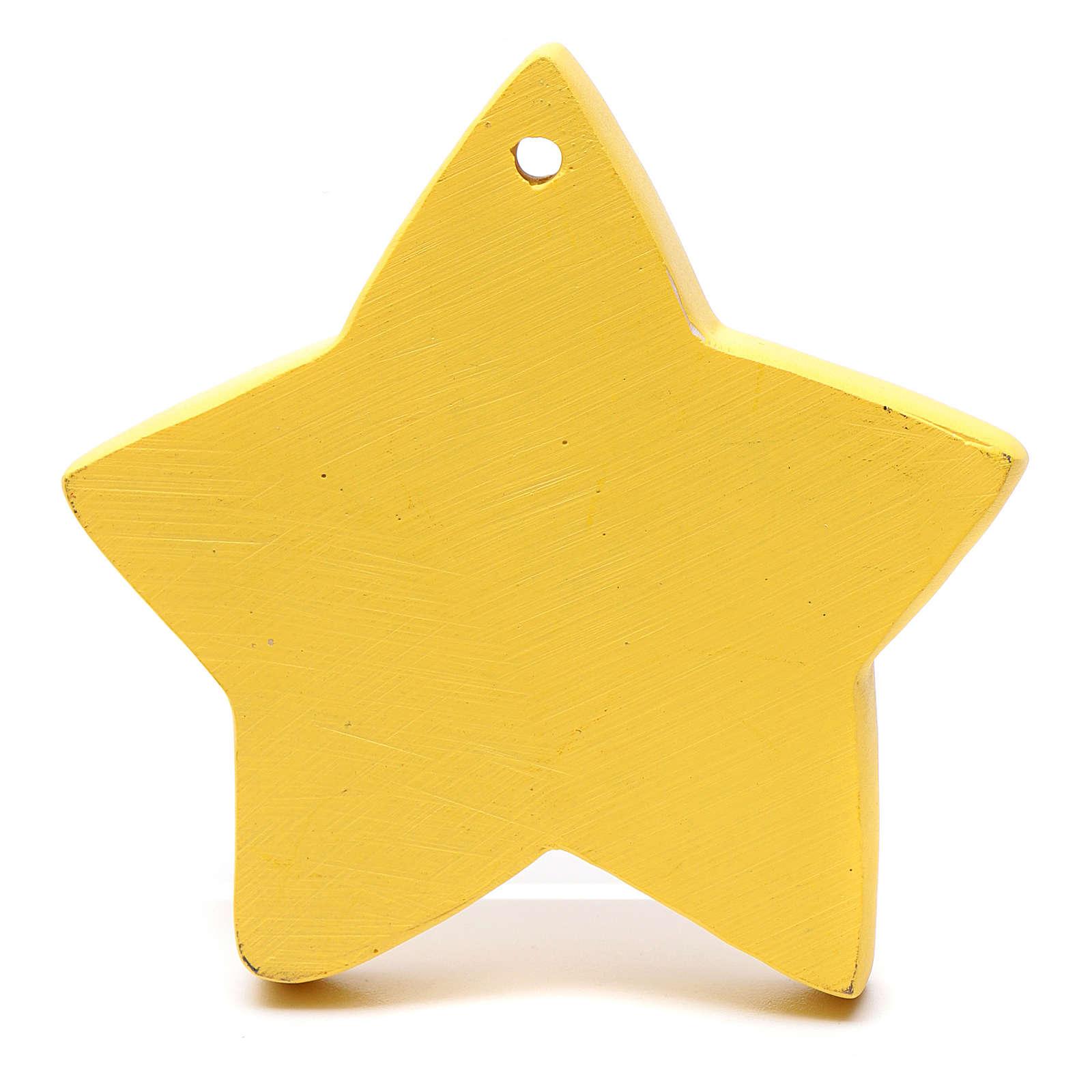 Decoración forma de estrella natividad 8 cm 4