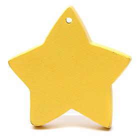 Decoración forma de estrella natividad 8 cm s2